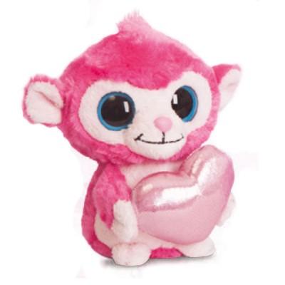 Peluche Luvee Monkey Hot Pink Yoohoo & Friends Macaco Coração