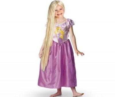 Peruca brilhante Rapunzel 80cm