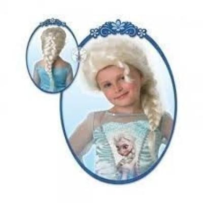 Peruca com trança Elsa Frozen