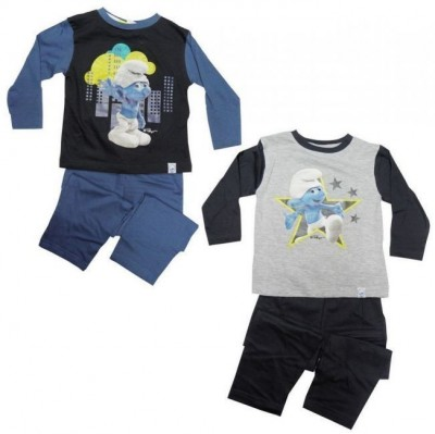 Pijama Smurfs rapaz