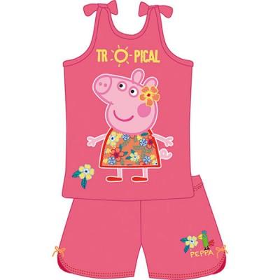 Pijama Verão Porquinha Peppa Tropical