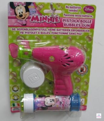 Pistola e Frasco de Bolas de Sabão da Minnie