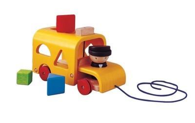 Plan Toys - Autocarro com Formas Coloridas
