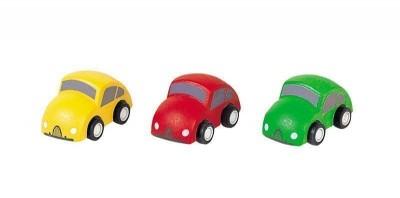 Plan Toys - Conj. Carros  Madeira