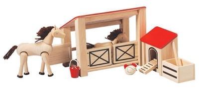 Plan Toys - Conj. Estábulo Madeira
