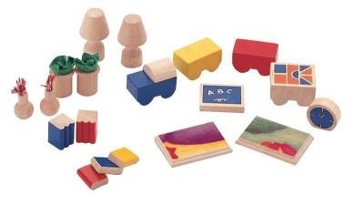 Plan Toys - Conj. para Casa Bonecas Madeira