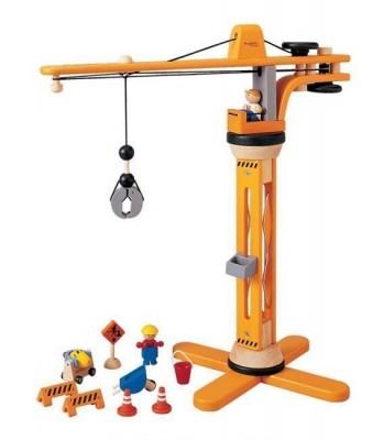 Plan Toys - Conj.Construção Grua Madeira