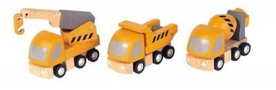 Plan Toys - Conjunto Camiões Construção
