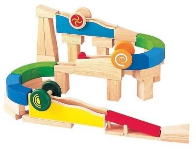 Plan Toys - Conjunto de Construção com curvas