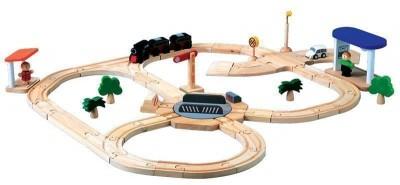 Plan Toys - Conjunto Pista 50p. Madeira