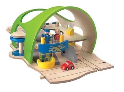 Plan Toys - Estação de Transportes Madeira