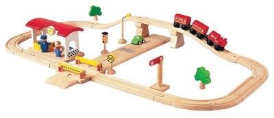 Plan Toys - Pista 38 Peças Madeira