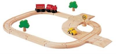 Plan Toys - Pista Comboio 24P Madeira