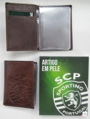 Porta Cartoes Pele SCP Sporting