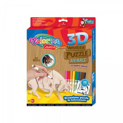 Puzzle 3D Madeira Touro Colorino