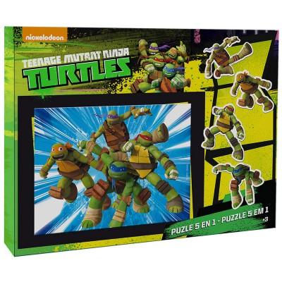 Puzzle 5 em 1 Tartarugas Ninja