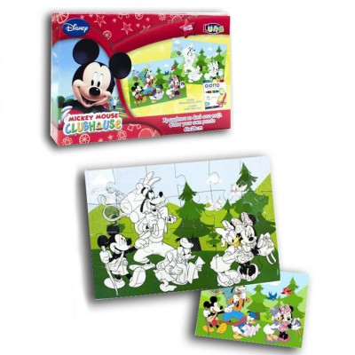 Puzzle colorido Mickey Mouse