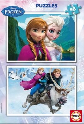 Puzzle Duplo Frozen 2x48 Elsa