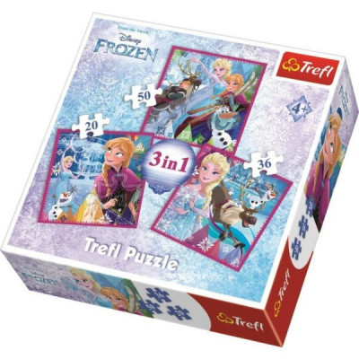 Puzzle Frozen 3 em 1