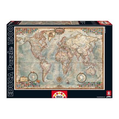Puzzle Mapa Politico Mundial 1500 pcs