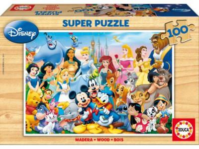 Puzzle Maravilhoso Mundo Disney Madeira 100 pçs