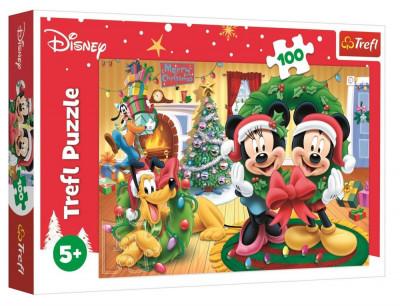 Puzzle Mickey e Minnie Natal 100peças