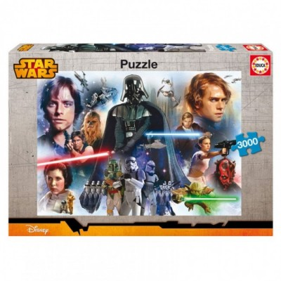 Puzzle Star Wars panorama 3000pz