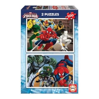 Puzzles Infantis 2x100 Spiderman