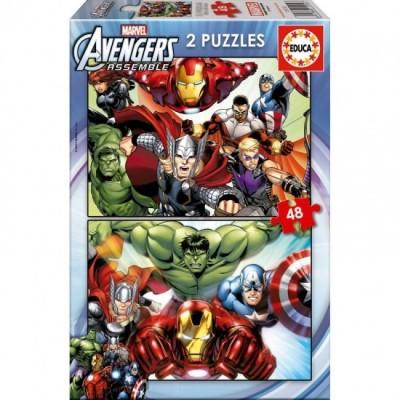 Puzzles Marvel Avengers 2 x 48 pçs