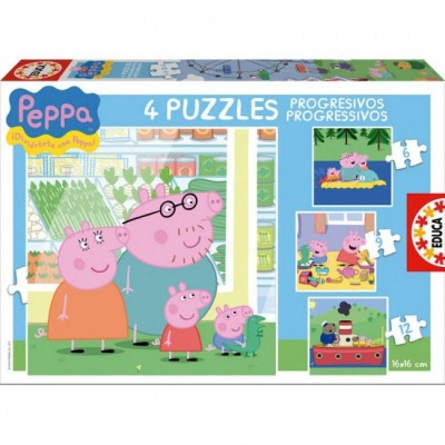 Puzzles Progressivos Peppa