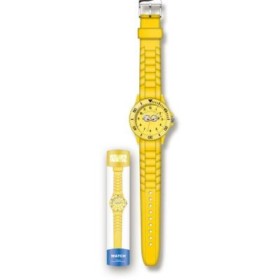 Relógio Analogico Minions Borracha Amarela