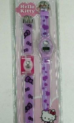Relógio + Bracelete Hello Kitty