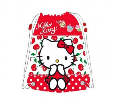 Saco Lanche Desporto Hello Kitty Cherry