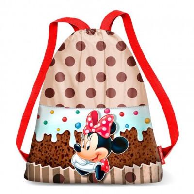 Saco Mochila com alças 42cm Minnie Disney Muffin