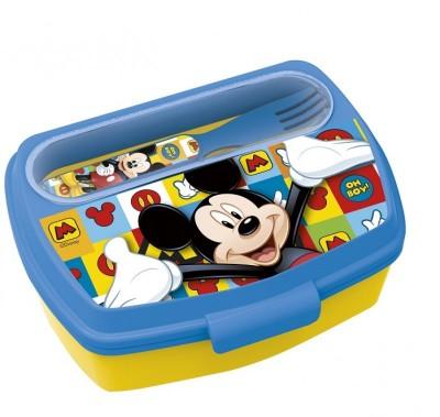 Sanduicheira Mickey Disney + colher e garfo