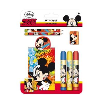 Set Papelaria Escreve e Pinta Mickey