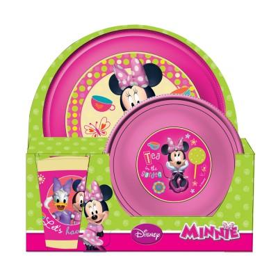 Set Pratos + Copo Minnie