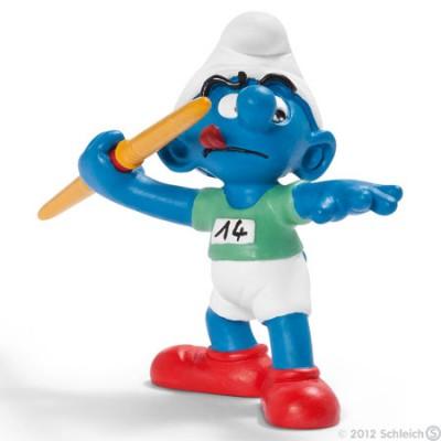 Smurf Lançamento Dardo (Javelin thrower) - Colecção Desporto