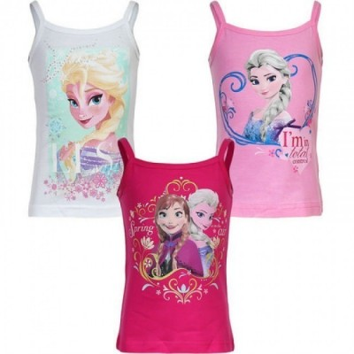 T-shirt alças Disney Frozen, sortido