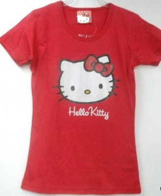 T-Shirt Hello kitty encarnada