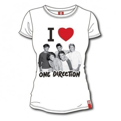 T-shirt I Love One Direction 1D