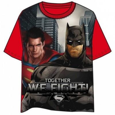 T-Shirt Marvel Batman Super Homem