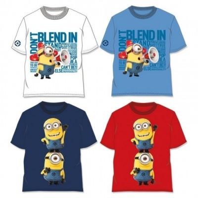 T-Shirt Minions Gru Mal disposto sortido