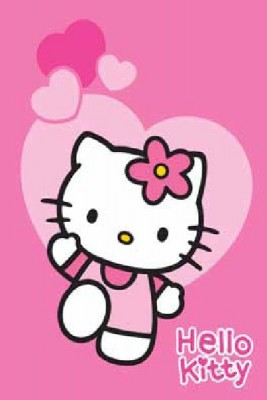 Tapete Hello Kitty Corações