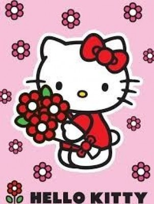 Tapete Hello Kitty Flores