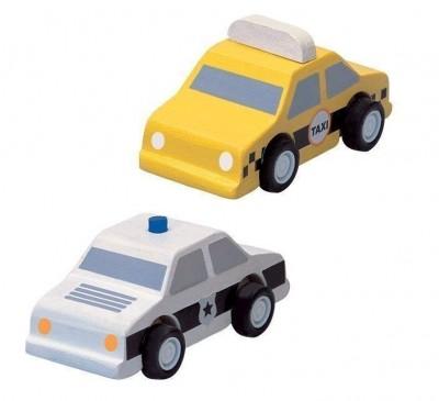 Táxi e Carro de Policia Plan Toys