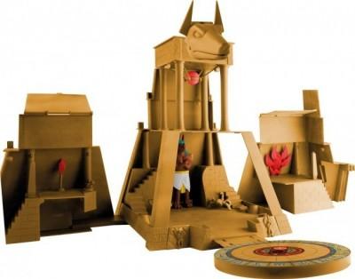 Templo de Uberjackal invizimals e duas figuras