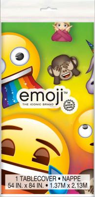 Toalha Festa Plástica Emoji Rainbow Fun