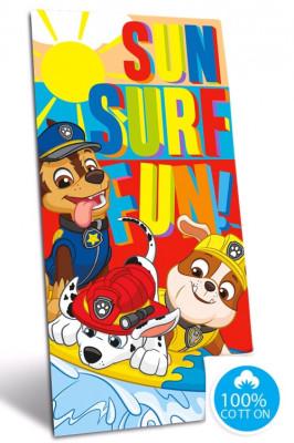 Toalha Praia Algodão Patrulha Pata Sun Surf Fun