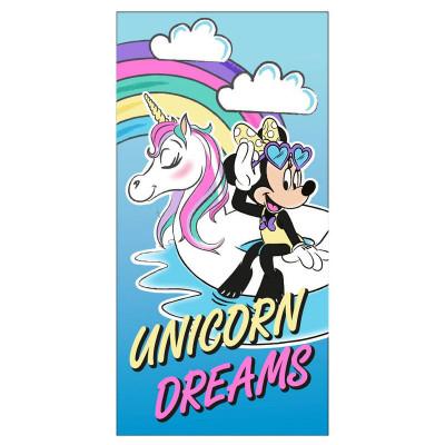 Toalha Praia Microfibra Minnie Unicorn Dreams 70x140cm
